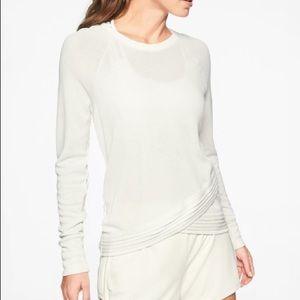 Athleta Criss Cross Sweatshirt Sea Salt Size XL